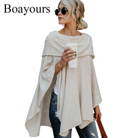 Boayours Fashion New Cashmere Off The Shoulder Tops For Women T Shirt Autumn Loose Irregular Hem