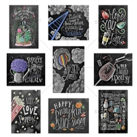 Black Background Letters 5D DIY Diamond Painting Diamond Embroidery Cross Stitch Rhinestone Home Decoration Needlework