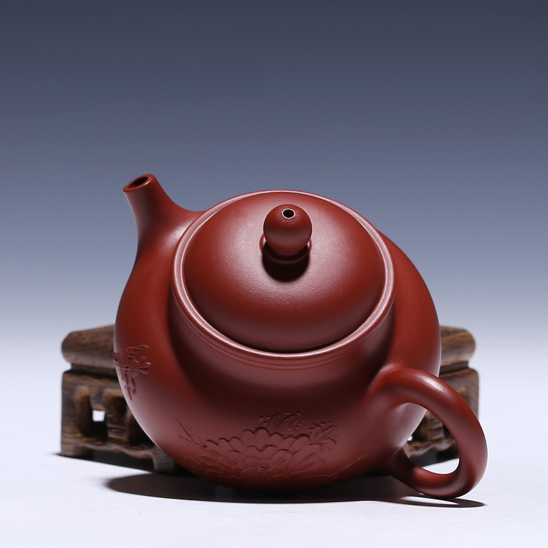 recommended masters all hand undressed ore mud zhu dahongpao pot of kung fu tea set gift custom mud painting for days - 4