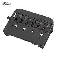 Zebra 6 String Headless Electric Bass Guitar Bridge Guitar Part Black Alloy Guitar Bridge Musical Instruments Parts Accessories