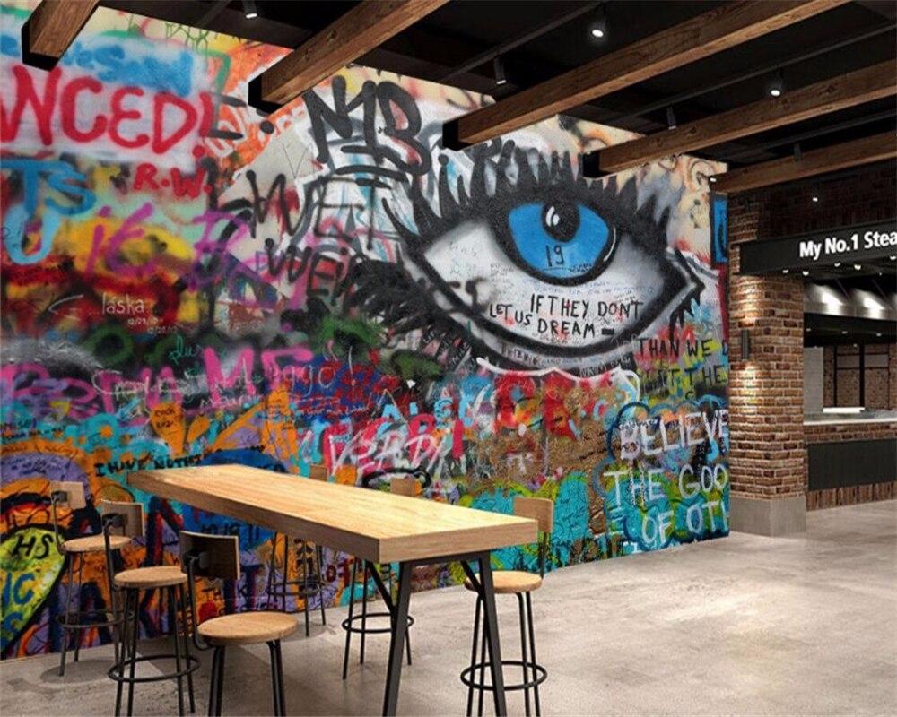 Beibehang Wallpaper Kustom Ktv Bar Cafe Kantor Graffiti Wallpaper Mulus Wallpaper Home Dekorasi Latar Belakang Foto Wallpaper Di Wallpaper Dari Perbaikan