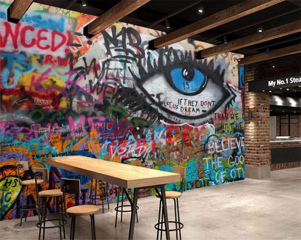 Beibehang benutzerdefinierte tapete KTV bar cafe büro graffiti ...