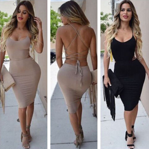 Sexy Women Bandage Bodycon Dress Party Night Club Wear Dress Sleeveless Summer Dress Strapless Slim Dresses Vestido de festa