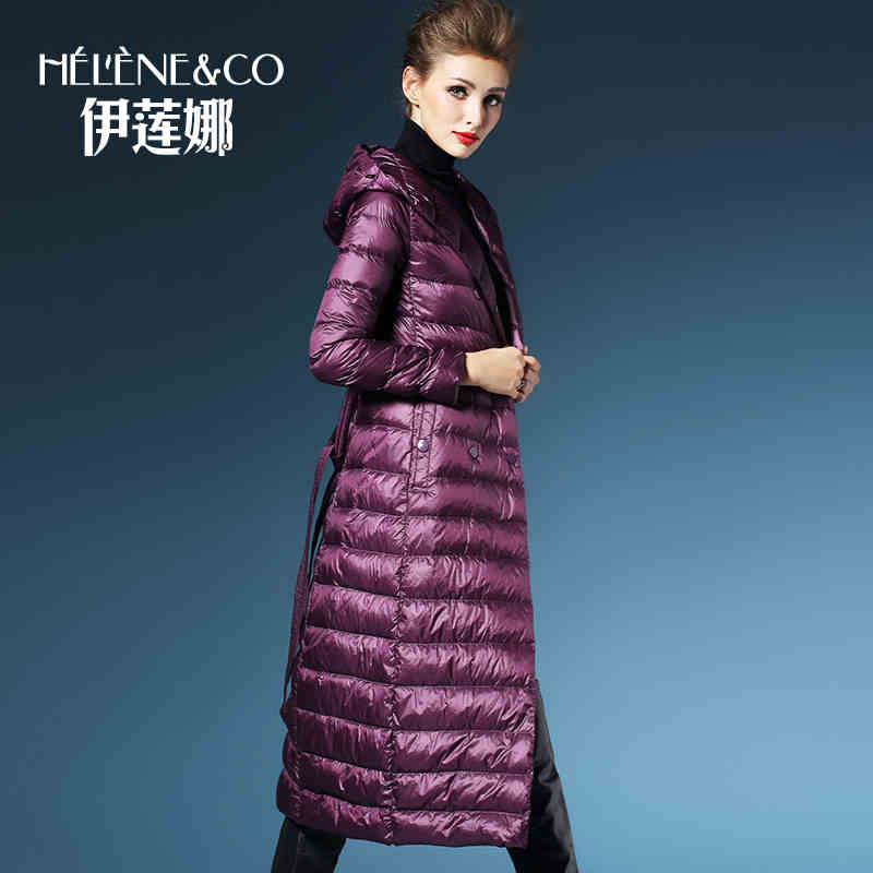 2015 new Hot winter Thin Warm Woman Down jacket Coat Parkas Outerwear Hooded Luxury long Loose plus size XL 90% White duck down
