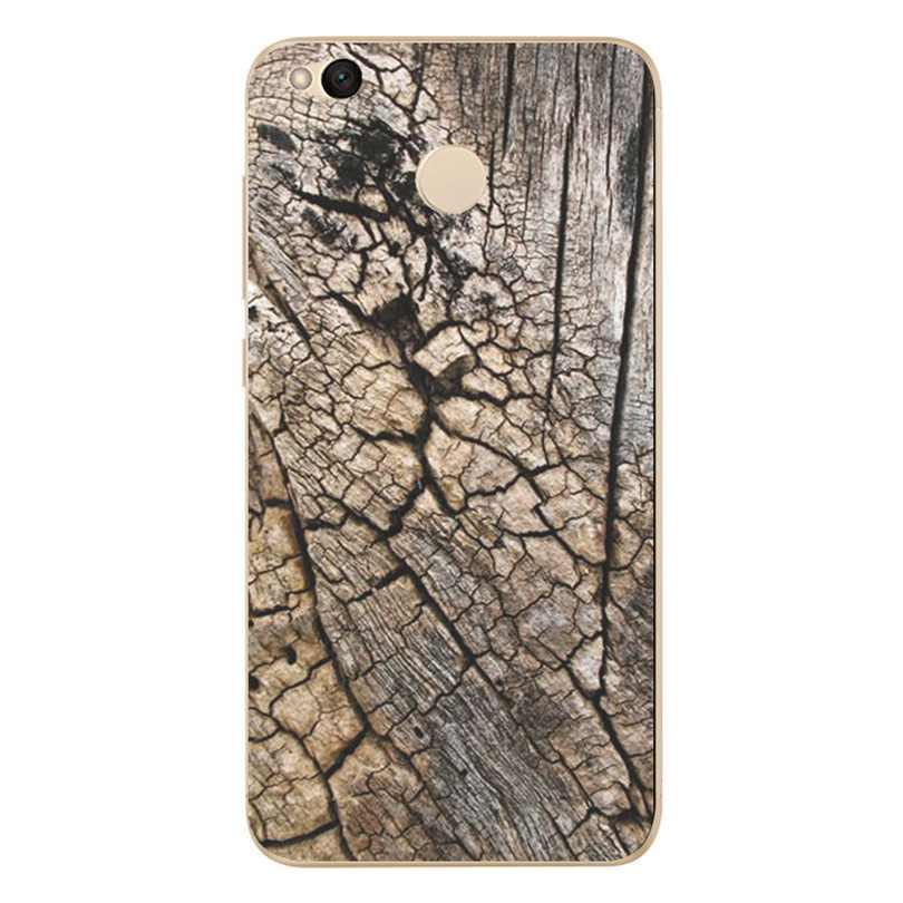 Patrón de madera texturas cubierta del teléfono para Xiaomi Redmi 4X Note 3 4 4A mi A1 Nota 4 Pro suave TPU de silicona funda para teléfono móvil X058