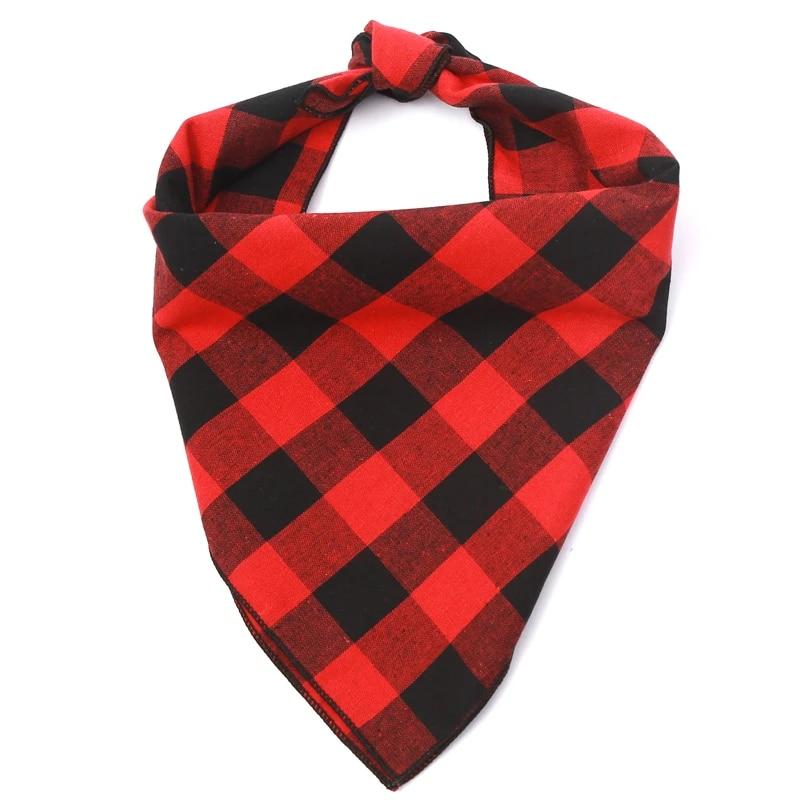 Tie On Bandana Scarf Dog Bandana Red Black Grey Flannel Scarf Plaid Fall Georgia Cat Bandana