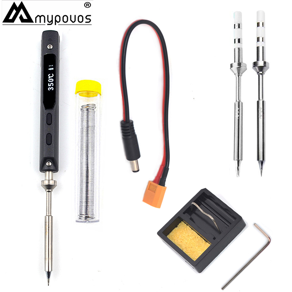 2 Pcs/TIP NEW TS100 Pen-type MINI Programmable Smart Adjustable Digital LCD Electric Soldering Iron Soldering Station ARM MCU