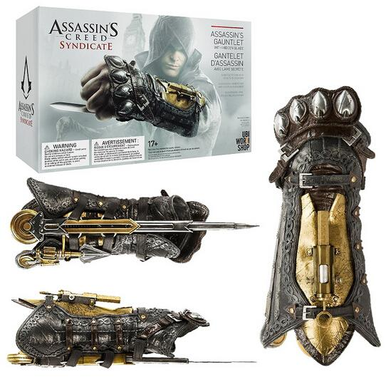 Assassins Creed Syndicate Gauntlet with Hidden Blade Avec Lame Secrete Weapons Action Figures PVC brinquedos Collection toys the gauntlet