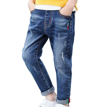 Spring Boys Jeans For Kids Pants Fashion Children Clothing Formal Hole Denim Pants Kids Trousers Boys Blue Pants 2020 cheap picemice Casual CN(Origin) Fits true to size take your normal size 01-2329 Button Fly Patchwork skinny Light