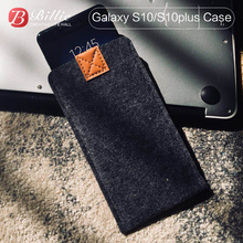 for Samsung Galaxy S10/S10Plus back Case Woolen Felt Phone Cases For samsung galaxy s10e cases Cover Mobile Handmade bags