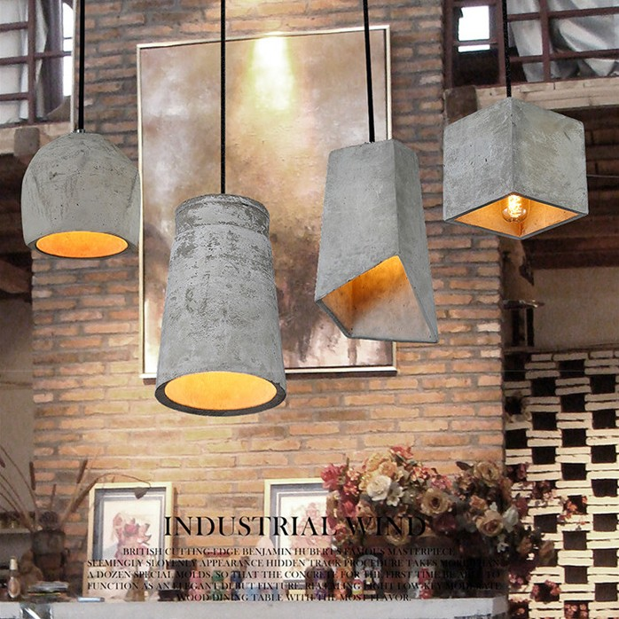 Cement lamp Pendant Lights Designer creative personality art lighting retro nostalgia bar restaurant aisle coffee simple SN6 цена и фото