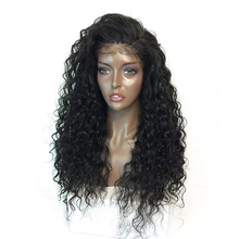 hot deal buy imstyle 180% density black curly wigs with baby hair lace front wigs for afro women heat resistant fiber synthetic hair lace wig