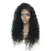 Imstyle 180% Density Black Curly Wig With Baby Hair Lace Front Wigs For Afro Women Heat Resistant Fiber Synthetic Hair Lace Wig