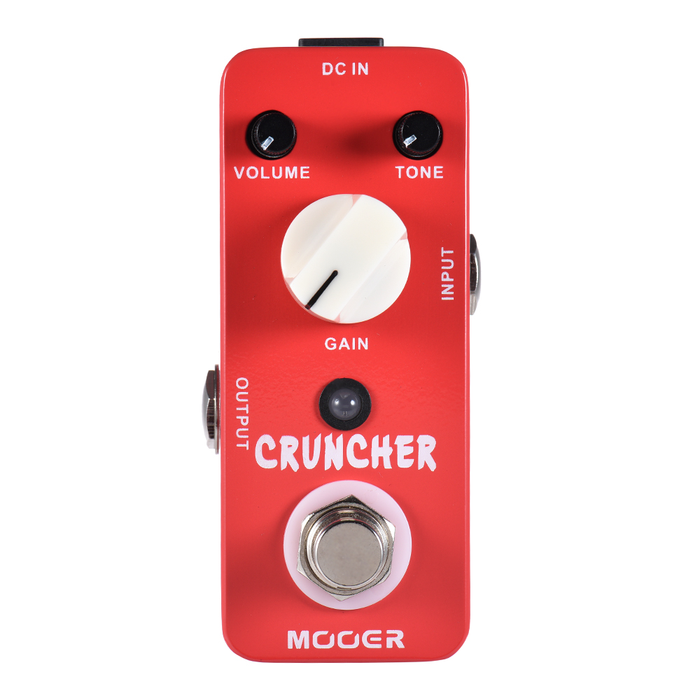 Mooer High Gain Distortion Sound Cruncher Electric Guitar Effect Pedal Full Metal Shell With Powerful Mid Frequency mooer mds3 cruncher distortion electric guitar effect pedal true bypass with free connector and footswitch topper