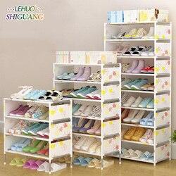 Estante de zapatos fácil ensamblado no tejido Multi capa estante de zapatos organizador de almacenamiento soporte mantener la puerta limpia ahorro de espacio