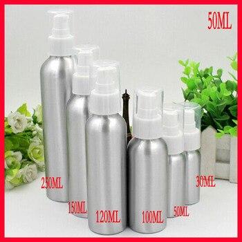 50ml  aluminum bottle cosmetics bottle makeup Refillable Bottles w white pump head CONTAINER 100pcs