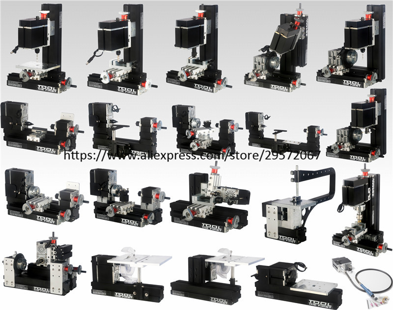 60W BigPower 16 in 1 MINI Lathe with Bow Arm, 60W,12000rpm Mini Bow-arm 16in1 Metal lathe Machine 12000r min 60w all metal 8 in 1 mini lathe without bow arm milling drilling wood turning jag saw sanding machine