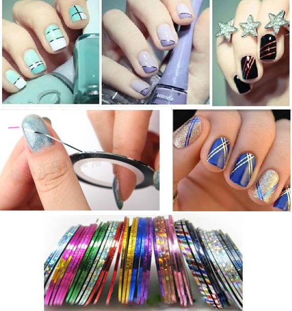 30pcs mixed color nail art sticker minx foil on decoration rolls 30pcs mixed color nail art sticker minx foil on decoration rolls striping tape 30 meter metal prinsesfo Gallery