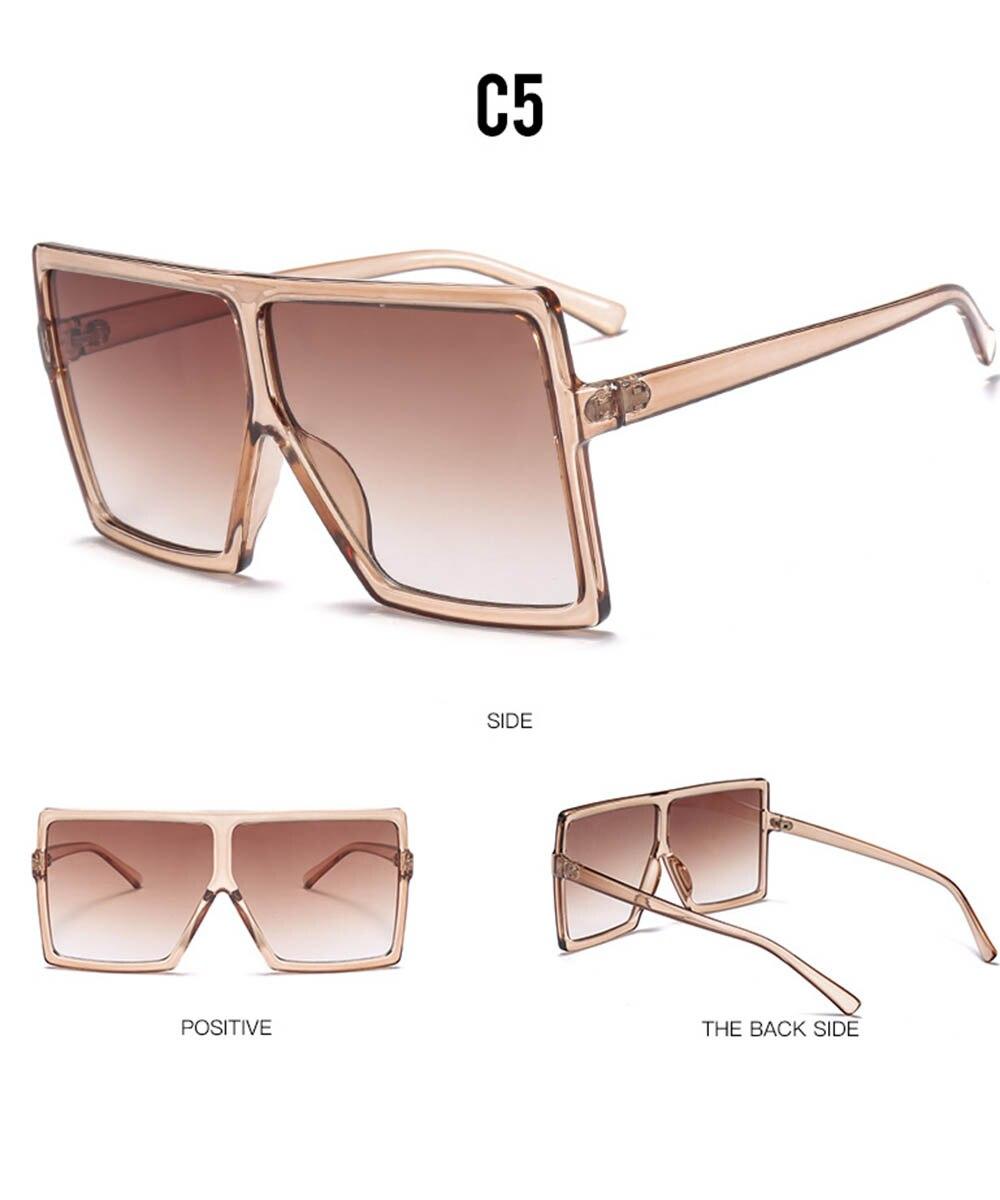 Retro Square Sunglasses Steampunk Men Women Brand Designer Classic Polarized Sunglasses Oversized Frame Gradient Lens Sunglasses in Women 39 s Sunglasses from Apparel Accessories