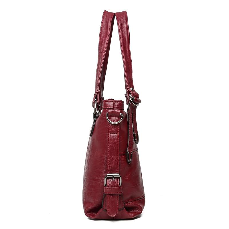 2019 Cuoio Borsa Alta Di Tracolla Red Con Donne Handbag Le Femminile Mano Capacità wine Sac Dell'unità Handbag Qualità Handbag A gray Grande Black Per Plaid Elaborazione Delle Handbag purple Tote IrxXz5AXn
