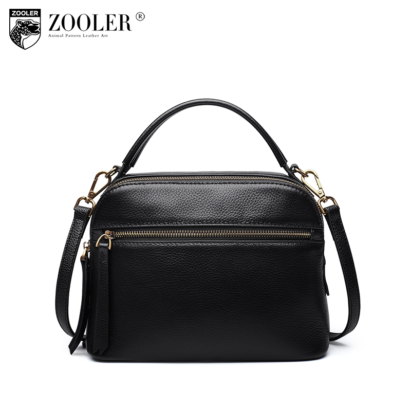 New product sales Zooler Brand zipper cowhide bag top handle shoulder bag simply solid genuine leather bag women bag bolsas#C108 new product sales zooler brand zipper cowhide bag top handle shoulder bag simply solid genuine leather bag women bag bolsas c108