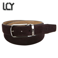 LCY Belt Mens Luxury 100 Real Leather Belts For Business Men Brand Desiger Metal Pin Buckle