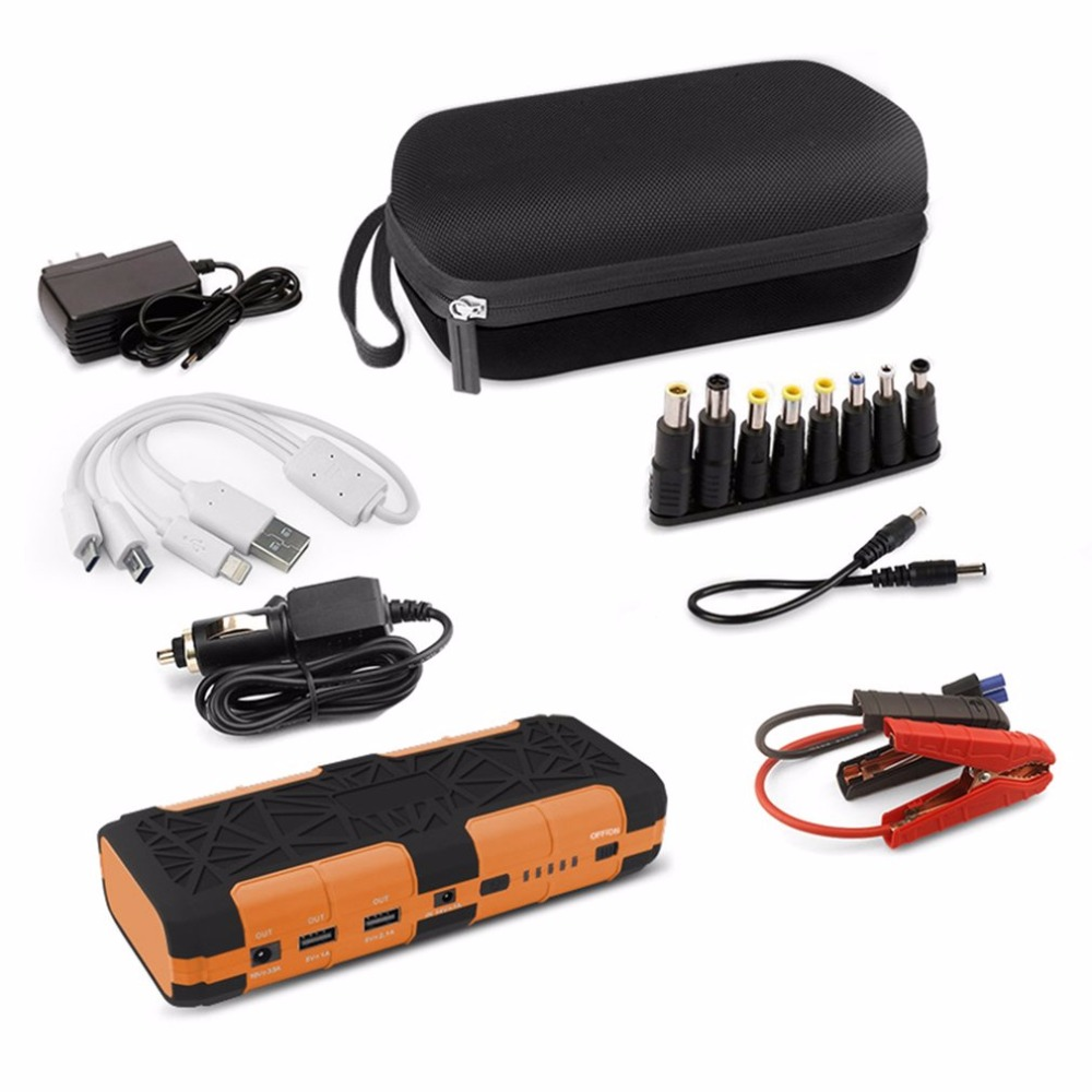 цена на 12V 82800mAh Portable Car Jump Starter With Flash Light Dual USB Output Battery Power Bank Multifunction Car Charger NEW Arrival