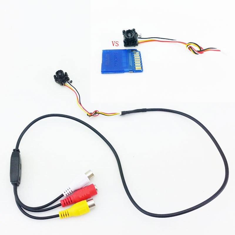 imágenes para Nuevo Pequeño CCTV cam 4 LED Noche IR DIY Mini Cámara HD 600TVL CMOS de La Cámara con Micrófono Mini Agujero de Alfiler Cámara de Seguridad