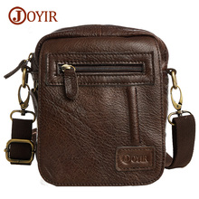 Joyir Genuine Leather Men Bag Shoulder Small Retro Bags Men Genuine Leather Crossbody Bags For Men Messenger Bags Handbags B209