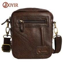 Joyir Genuine Leather Men Bag Shoulder Small Retro Bags Men Genuine Leather Crossbody Bags For Men Messenger Bags Handbags B209
