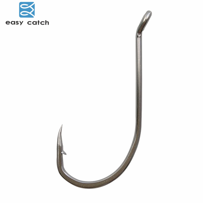 Easy catch 30pcs 92554 stainless steel white long shank for Octopus fishing hook