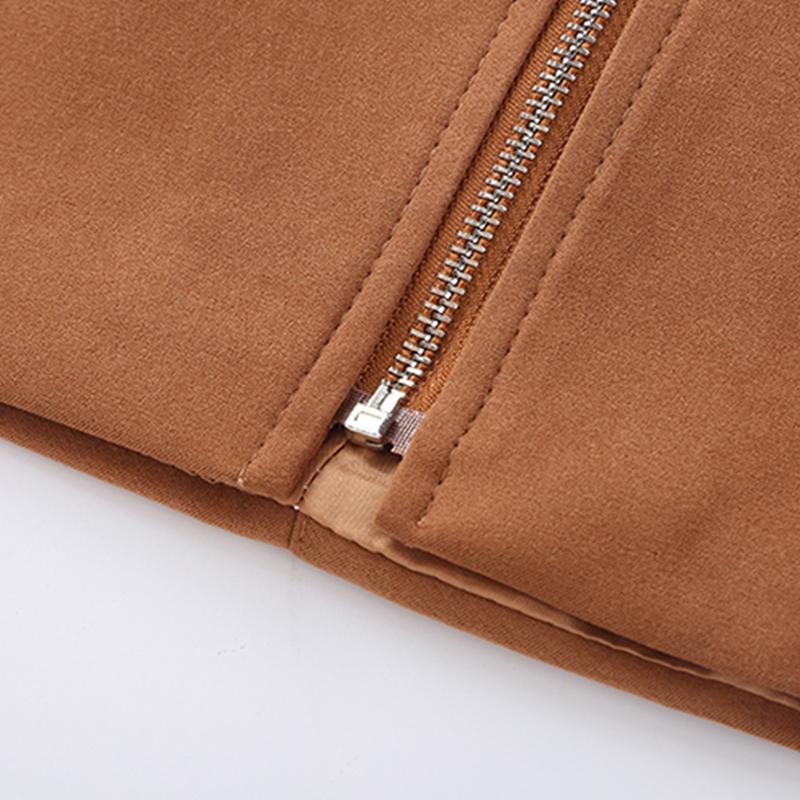HTB1D0yccqagSKJjy0Fhq6ArbFXan - Suede Skirt Fashion High Waist Zippers JKP343