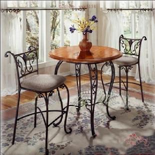 R stico comedor sillas sillas de hierro forjado mesas y for Comedor hierro forjado
