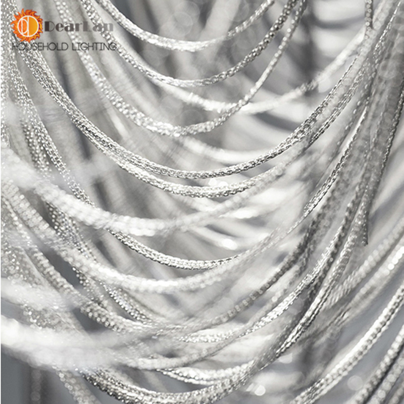 Ժամանակակից ոճով արծաթյա հագուստ, - Ներքին լուսավորություն - Լուսանկար 5