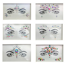 3D Crystal Glitter Jewels Tattoo Sticker Women Fashion Face Body Gems Gypsy Festival Adornment Party Makeup Beauty Stickers(China)