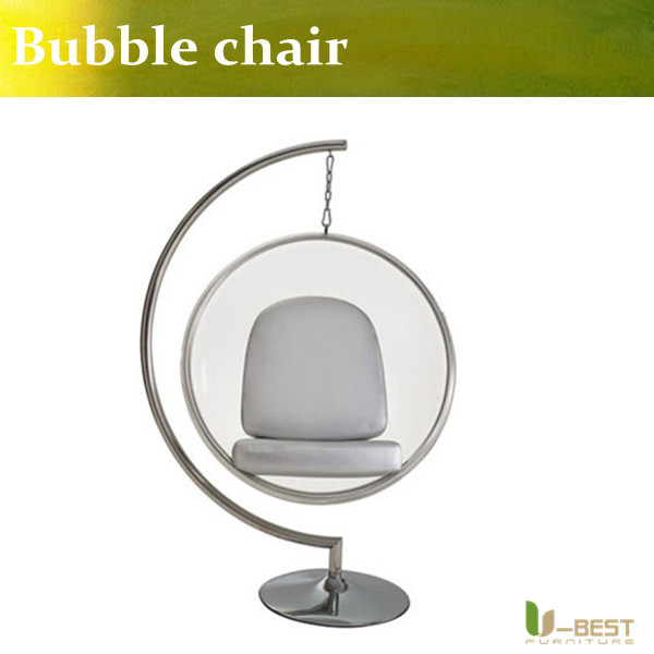U-BEST High quality Hanging bubble chair,acrylic swing chair transparent chair,Bubble Chair by Aarnio Eero u best replica eero aarnio half dome chair with fibreglass and high quality pu leather