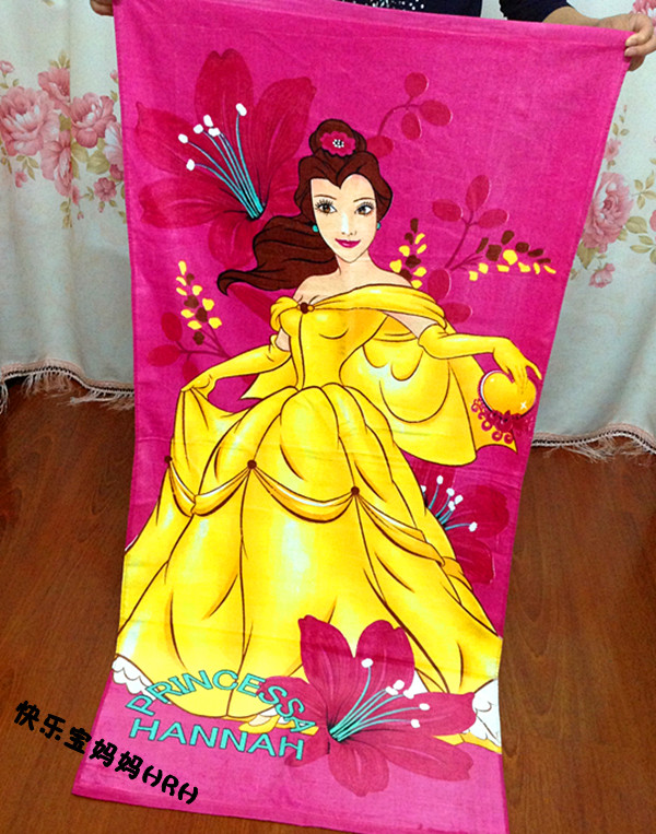 150 72cm Beautiful Princess Bath Body Towel Soft Cut Velvet Cotton Swim Spa Travel Beach Towels