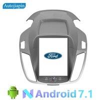 Autojiapin 10,4 дюймов вертикальный Экран Android 7,1 Quad Core Автомобильный мультимедийный плеер с gps навигатором для Ford Kuga ESCAPE 2013 2017