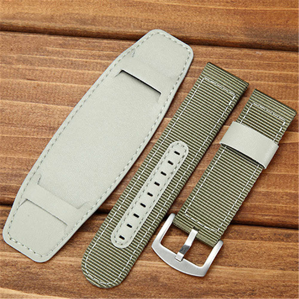 f6266f14c7f ... Way Deng - Men s Vintage Military Army Nylon Watchband 18 20 22 MM PU  ...