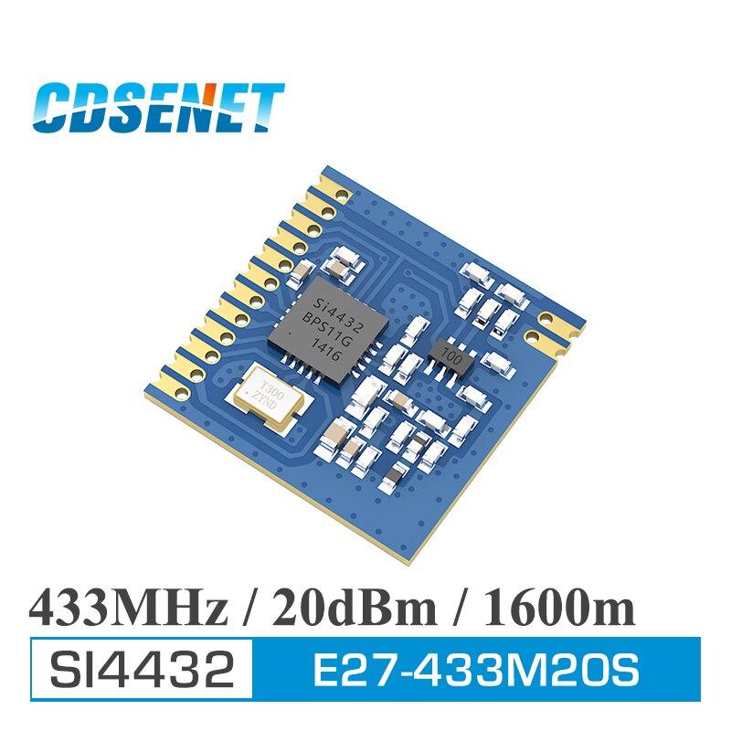 Беспроводной радиочастотный модуль SI4432, 433 МГц, 100 мВт, SPI SMD трансивер, CDSENET, E27-433M20S, IOT, 433 МГц, радиочастотный передатчик и приемник