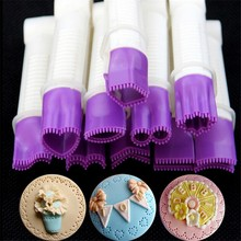 10cm 10 flower type lace edge clip fondant biscuit cutter decorating sugarcraft pastecake tool cupcake cookie accessory