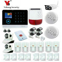 YobangSecurity Wifi GSM GPRS Home Burglar Security Alarm System Outdoor Indoor Ip Camera Solar Power Siren Smoke Fire Detector