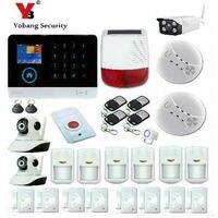 Yobangsecurity Wi Fi GSM GPRS домашний охранной Охранной Сигнализации Системы Крытый IP Камера Солнечный Мощность сирена дыма пожарная