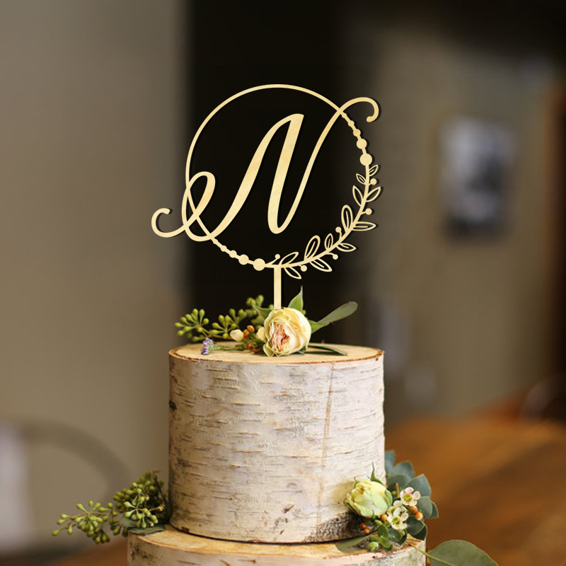 Initial Circle Half Wreath Pearls Cake Topper , Letter Cake Topper, Rustic Topper, Wreath Initials Cute ToppersInitial Circle Half Wreath Pearls Cake Topper , Letter Cake Topper, Rustic Topper, Wreath Initials Cute Toppers