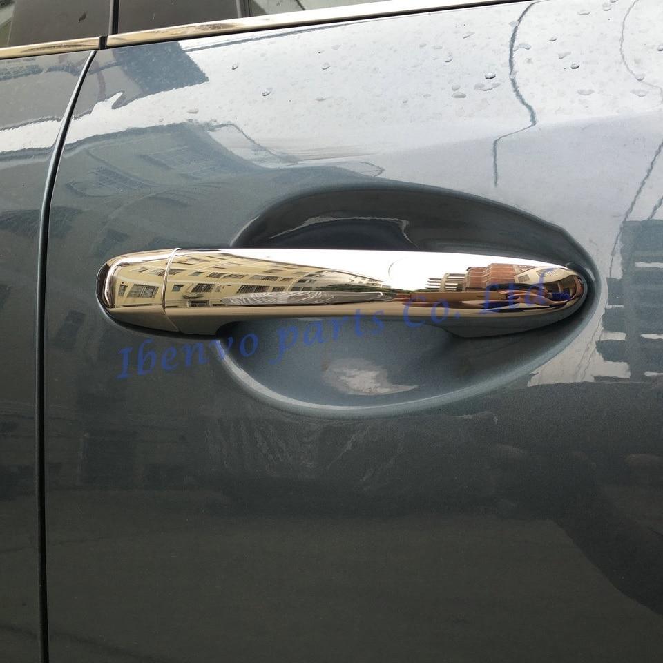 Carbon Fiber Exterior Door Handle w//o Smart Key Cover Overlay Trims For Audi A4