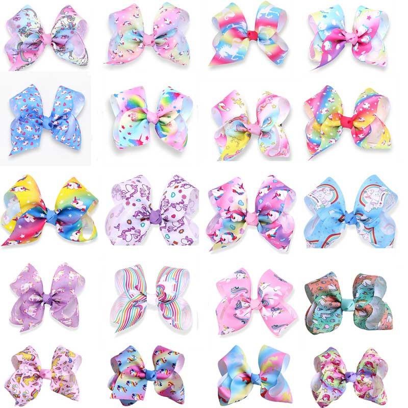 "5"" jojo bows graffiti hair accessories"