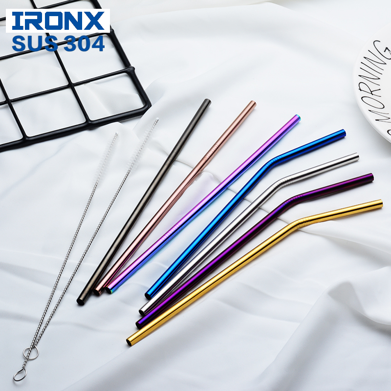 Wholesale 100 pcs stainless steel straw Eco Friendly drinking straws For 20oz 30oz Cup Bar Accessories