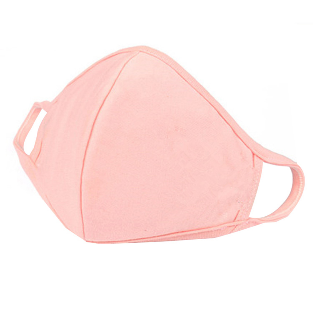 Pink Black Spring Summer Cotton Thin Personality 3D Mask Men Women Dustproof Earloop Face Mouth Mask