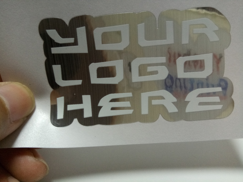 12x7.5cm brush silver stikcer printing custom