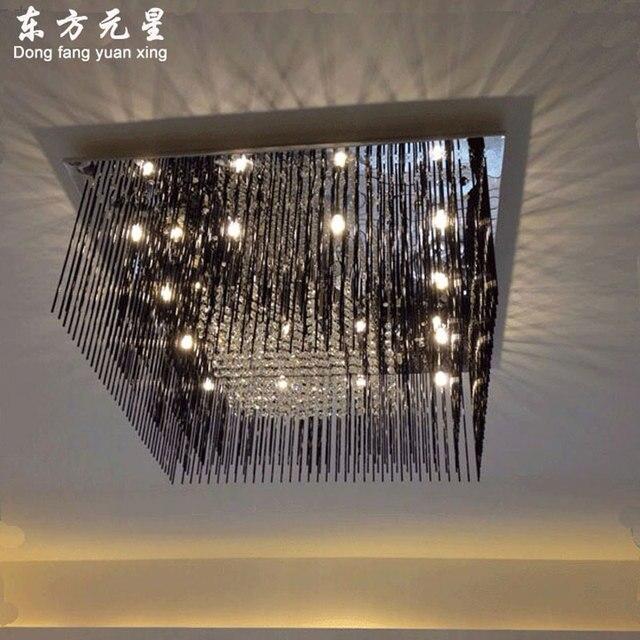 Schwarz Kristall Lampe Led Deckenleuchte Platz Llight Moderne